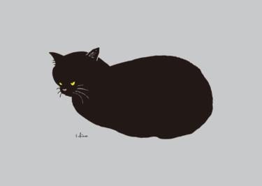 丸まる黒猫