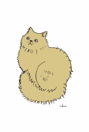 モフモフ茶猫