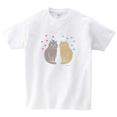 猫と青い鳥 Tシャツ