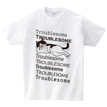 寝ころび猫 Tシャツ