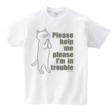 お願い猫 Tシャツ