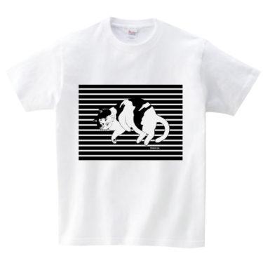 ゴロリ猫 Tシャツ