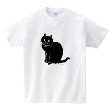 赤首輪黒猫 Tシャツ