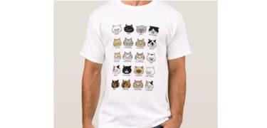猫柄【ブサ猫】Tシャツ