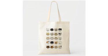 猫柄【ブサ猫】綿トートバッグ